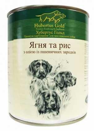 Влажный корм для собак Hubertus Gold Ягненок и рис, 800г фото