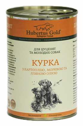 Влажный корм для собак Hubertus Gold Курица с картошкой и морковью, 400г фото