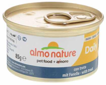 Влажный корм для кошек Almo Nature Daily Menu с кусочками форели, 85г фото