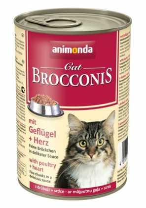 Влажный корм для кошек Animonda Brocconis с птицей и сердцем, 400г фото