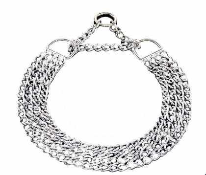 Ошейник-цепочка для собак Sprenger, 4 ряда, хромир. сталь, 3мм, 65см фото