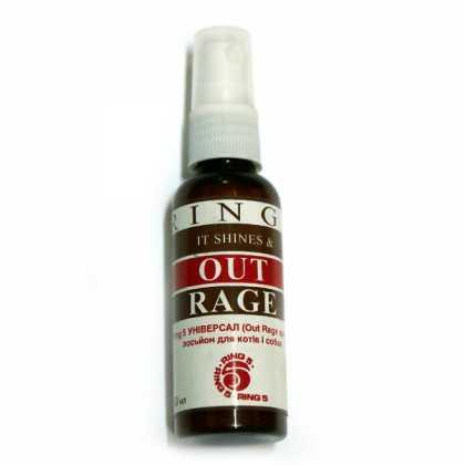 Лосьон для блеска шерсти кошек и собак Ring5 Out Rage, для длинношерстных и короткошерстных пород, 50мл фото
