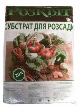 Субстрат Розквит, 20л, для рассады фото