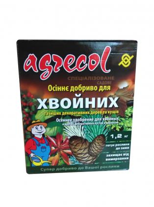 Комплексное удобрение Агрекол Осень для хвойных растений, 1.2кг фото