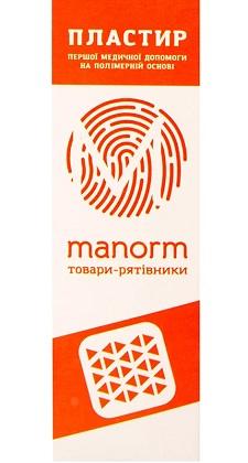 Пластырь первой медицинской помощи Манорм, на полимерной основе, 19х72мм, 10шт фото