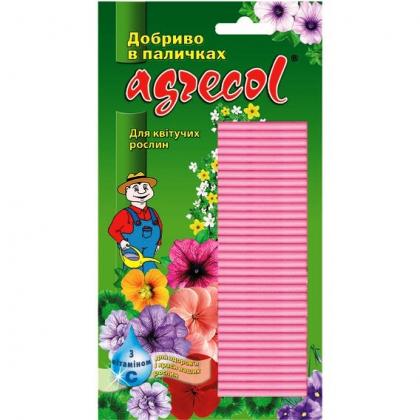 Комплексное минеральное удобрение в палочках для цветущих растений, 30шт, NPK 8.10.14, Agrecol (Агрекол), 30402 фото