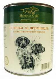 Влажный корм для собак Hubertus Gold Индейка и лапша, 800г фото