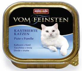 Влажный корм для кошек Animonda Vom Feinsten классик для кастрированных котов с индейкой и форелью, 100г фото