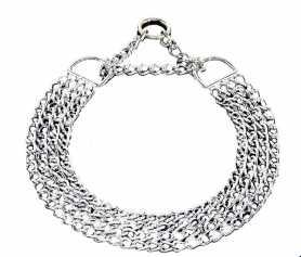Ошейник-цепочка для собак Sprenger, 4 ряда, хромир. сталь, 3мм, 70см фото