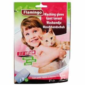 Рукавица-салфетка для котов Washing Glove Cat Karlie Flamingo, чистка без воды фото