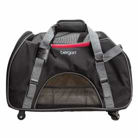 Сумка переноска на колесах для собак и кошек Bergan Wheeled Comfort Carrier, серый фото