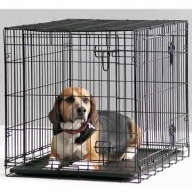 33140011 Savic ДОГ КОТТЕДЖ клетка для собак 107 см, черный, 107*72*79 см  фото