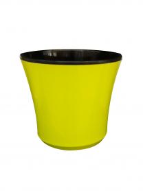 Горшок для цветов + кашпо, Ø 150 / Ø 160 - № 3, зеленый, пластик, 4811 фото