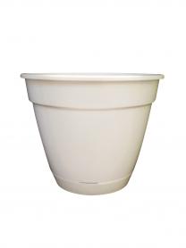 Горшок для цветов с подставкой, Ø 180 - № 4, белый, пластик, 4802 фото