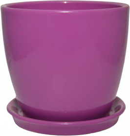Горшок Сонет, 15х14,5х2,0, премиум фиолетовый, керамика, 4542 фото