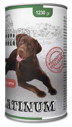 Влажный корм для собак Platinum Dog мясное ассорти, 1.23кг фото