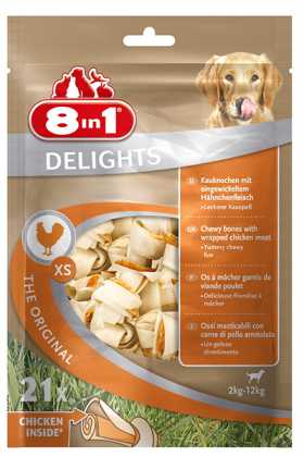 Жевательные кости для собак 8in1 Delights Value Bag, 21шт, XS фото