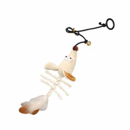 Игрушка для кошек с кошачьей мятой Karlie Flamingo Skeleton Mouse, подвесная мышь, плюш, 20х9х5см фото