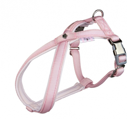 Шлея восьмерка Dog Princess розовая S35-56 см/15 мм фото