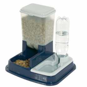 Поилка-кормушка на подставке для собак Karlie Flamingo Water+Feed Bowl, пластик, 37х32х36см фото