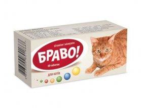 Витамины Браво д/котов № 60  фото