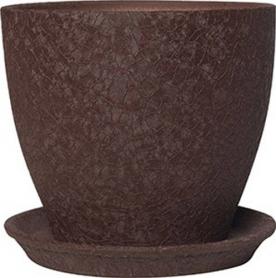 Горшок Магнолия, 13х15х1,3, шелк, шоколад, керамика, 10921541 фото