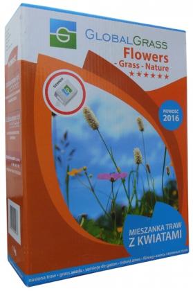 Газонная трава декоративная Flowers Grass Nature, 1кг, GlobalGrass (Польша) фото
