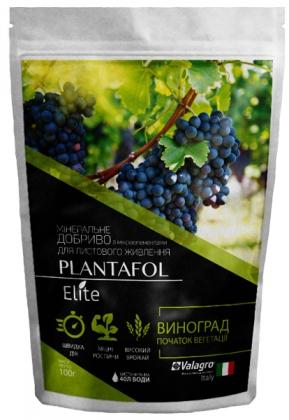 Комплексное минеральное удобрение для винограда, начало вегетации, Plantafol Elite (Плантафол Элит), 100г, NPK 30.10.10, Valagro (Валагро) фото