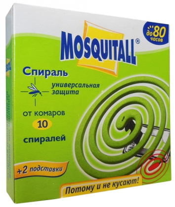 Спирали от комаров, 10шт, Mosquitall фото