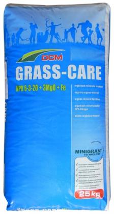 Органо-минеральное удобрение для газона DCM Grass-Care, 25кг, NPK 6.3.20+3MgO+Fe, Осень, 3 мес. фото