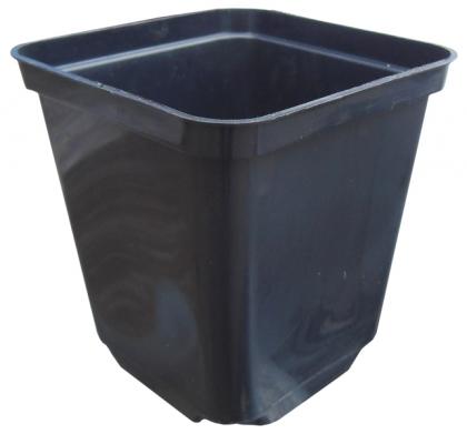 Горшок квадратный, 9х9х10, 0.5л, черный, Kloda (Клода) фото