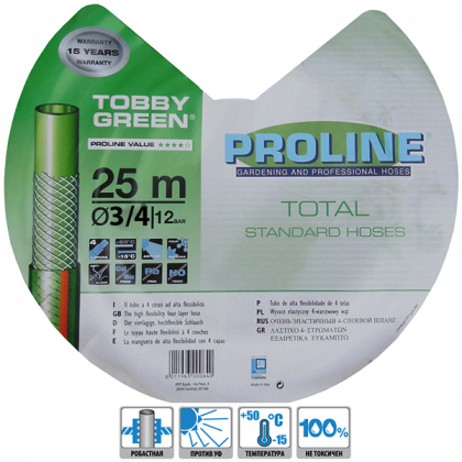 Поливочный шланг TobbyGreen 19мм (3/4'), 25м, Аквапульс фото