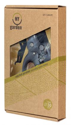 Секатор храповый 200мм в комплекте с лезвием, My Garden, 221-1-200 PP фото