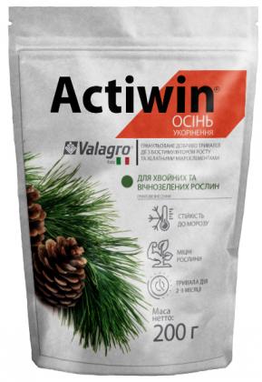 Комплексное минеральное удобрение для хвойных и вечнозеленых Actiwin (Активин), 200г, NPK 9.16.14, (Valagro) (Валагро) фото