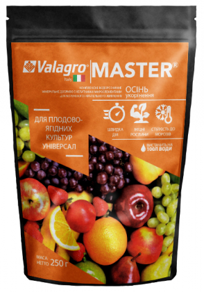 Комплексное минеральное универсальное удобрение для плодово-ягодных культур Master (Мастер), 250г, NPK 13.40.13,  Осень, (Valagro) (Валагро) фото