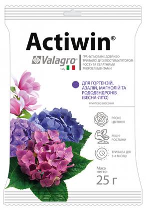 Комплексное минеральное удобрение для гортензий, азалий, магнолий и рододендронов Actiwin (Активин), 25г, NPK 12.5.20, Весна-Лето, Valagro (Валагро) фото