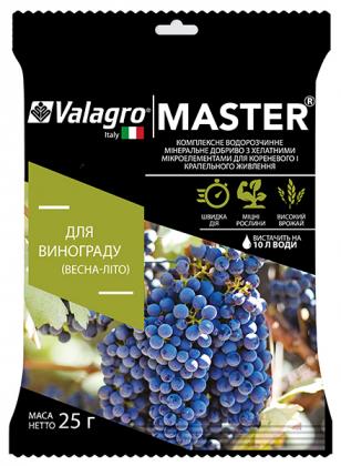 Комплексное минеральное удобрение для винограда Master (Мастер), 25г, NPK 17.6.18, Весна-Лето, Valagro (Валагро) фото