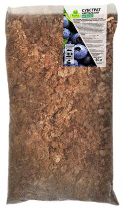 Субстрат натуральный для голубики, клюквы, брусники, азалий, магнолий, рододендронов, хвойных и других растений, 50л, pH 3.5-4.5, TM ROSLA (Росла) фото
