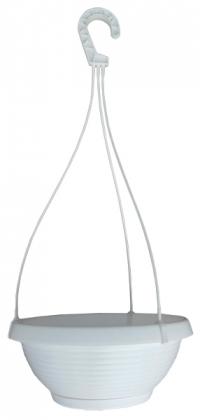 Кашпо Лотос, D270мм, 3.6л, 270х140х110, белый фото