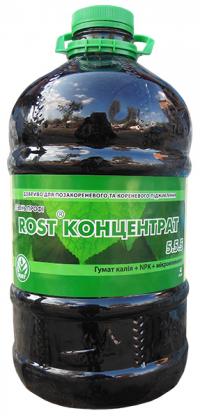 Органо-минеральное удобрение Rost (Рост) концентрат, 4л, NPK 5.5.5 фото