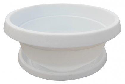 Горшок Фиалка с поддоном, D145, 0.6л, 145х70х70, белый фото