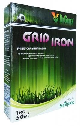 Газонная трава универсальная Grid Iron, 1кг, TM Dr. Green, Simplot (Канада) фото