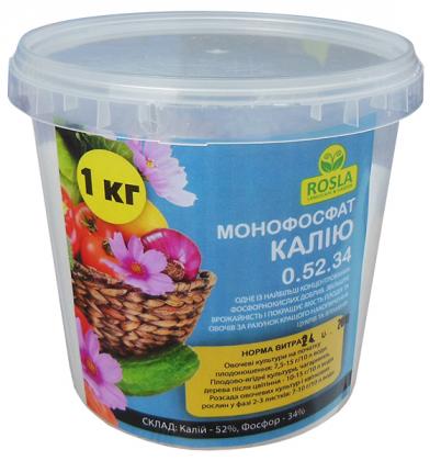 Комплексное минеральное удобрение Монофосфат калия, 1кг, NPK 0.52.34, TM ROSLA (Росла) фото