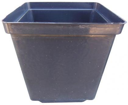 Горшок для рассады квадратный, 1.9л, 13х13х13, черный, Kloda (Клода) фото