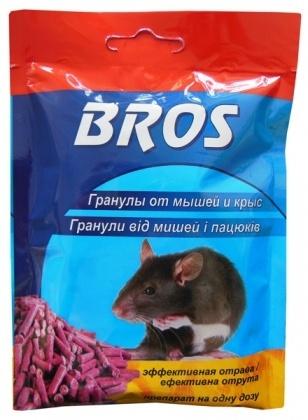 Гранулы от мышей и крыс, 90г, P36356, BROS фото
