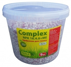 Комплексное минеральное удобрение для газона Complex (Комплекс), 9кг, NPK 16.4.8+ME, Лето, TM ROSLA (Росла) фото