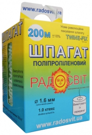 Шпагат полипропиленовый, 1.0 ктекс, 200 м/бобина фото