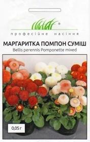 Семена маргаритки Помпон смесь, 0.05г, Hem, Голландия, Професійне насіння фото