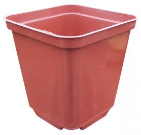 Горшок пластиковый квадратный, 9х9х10 см, 0.52 л, терракот, Kloda (Клода) фото