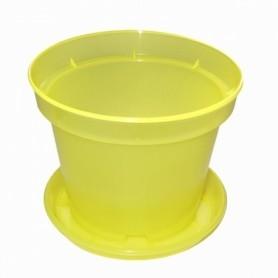 Горшок с поддоном, для орхидей, D170, 2.2л, 170х120х140, желтый фото